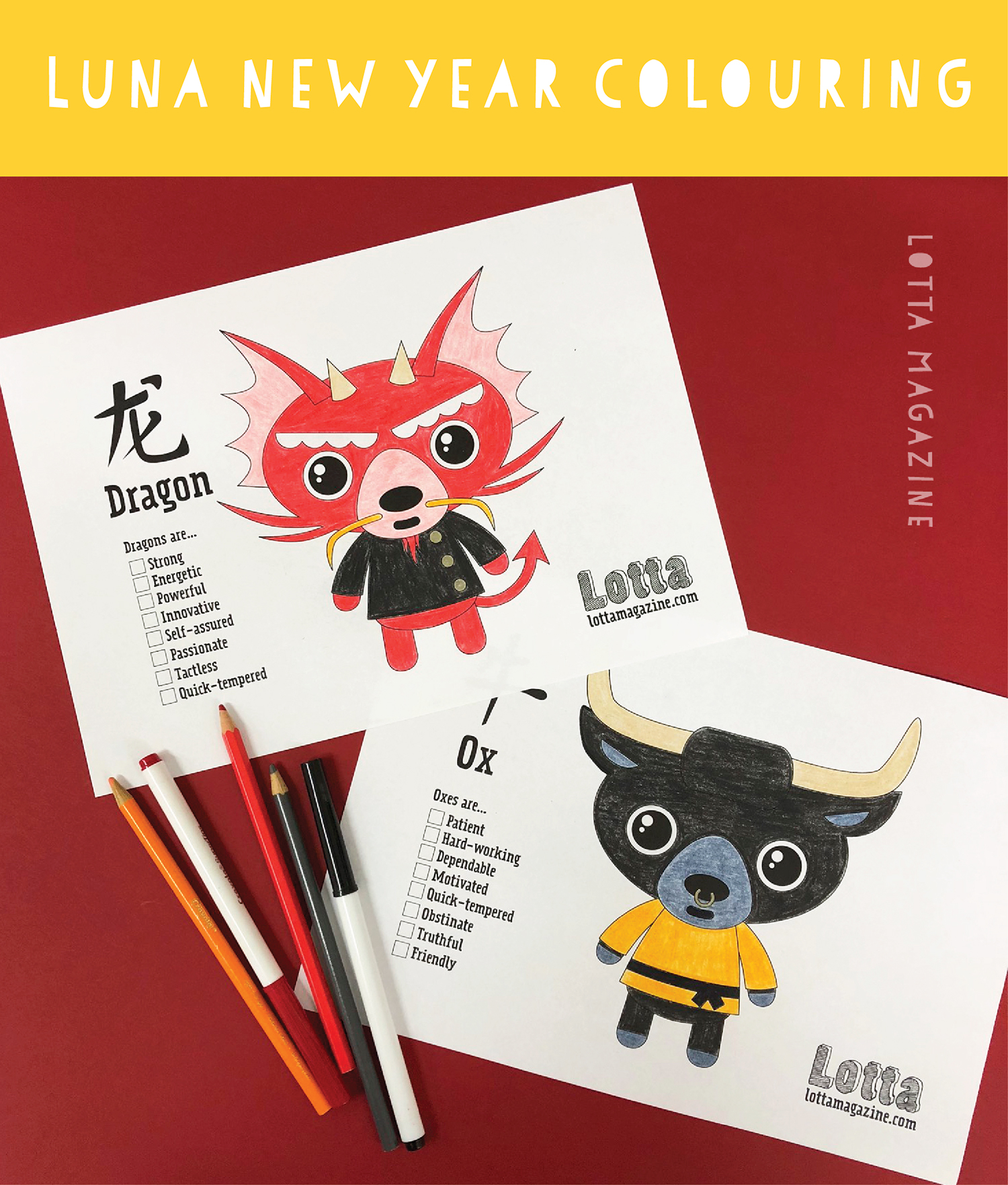 photo relating to Chinese Zodiac Printable identified as Chinese zodiac printable LOTTA Journal