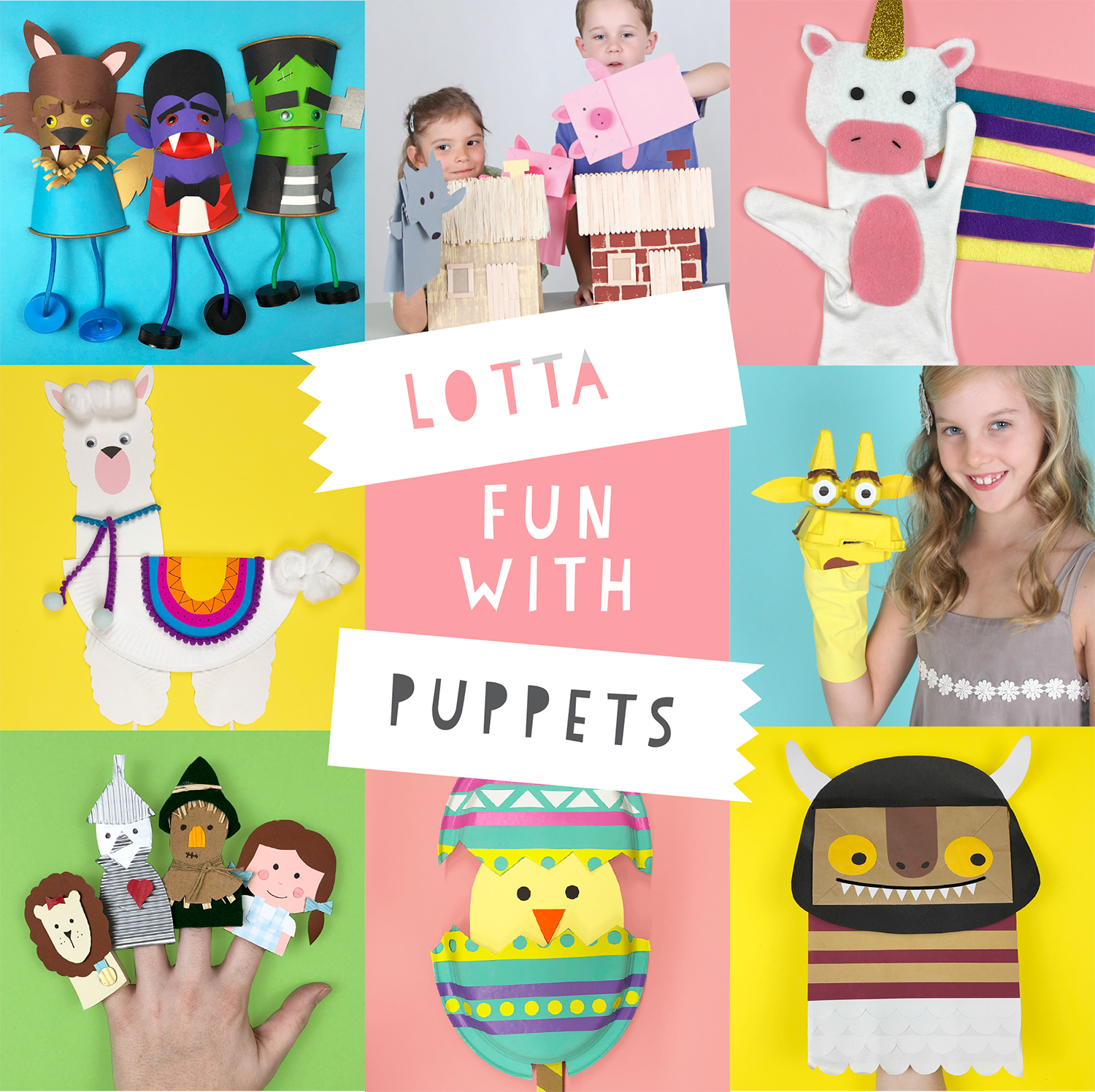 Lotta fun with puppets pin