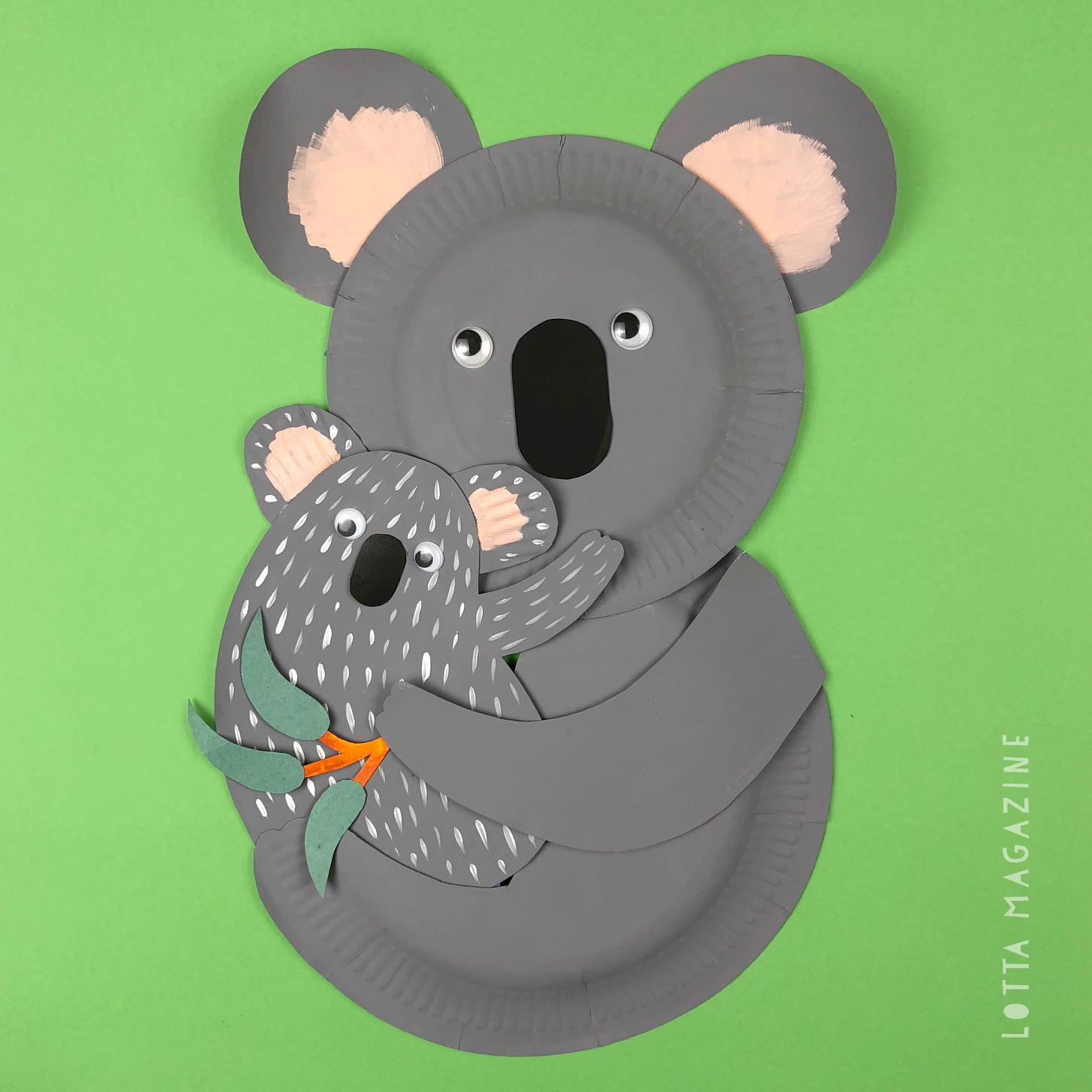 Lotta paper plate koalas